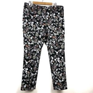 NWT Loft Marisa Pants 12 Floral Embroidered $89